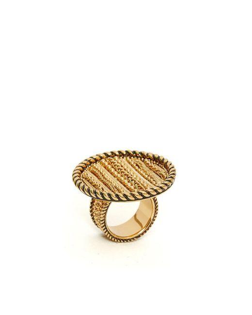 Rachel Zoe - Metallic Laura Texture Statement Ring - Lyst