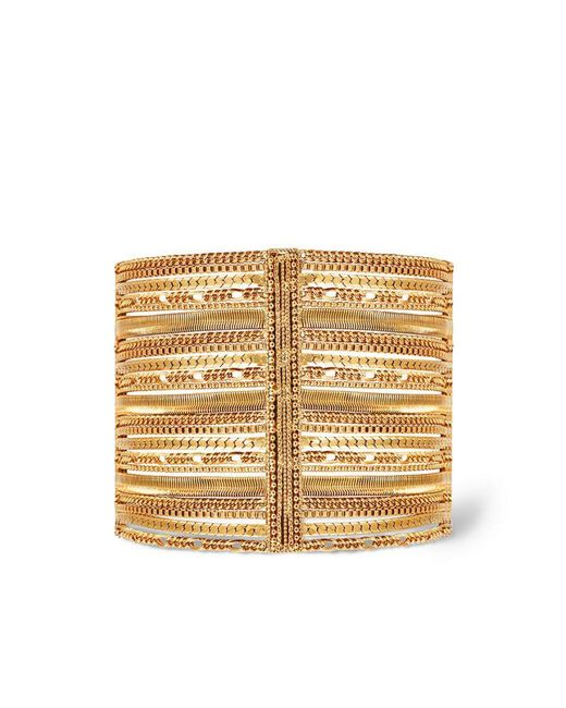 Rachel Zoe - Metallic Jasmine Multi-layer Chain Cuff - Lyst