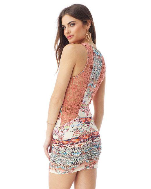 Sky - Pink Indi Mini Dress - Lyst