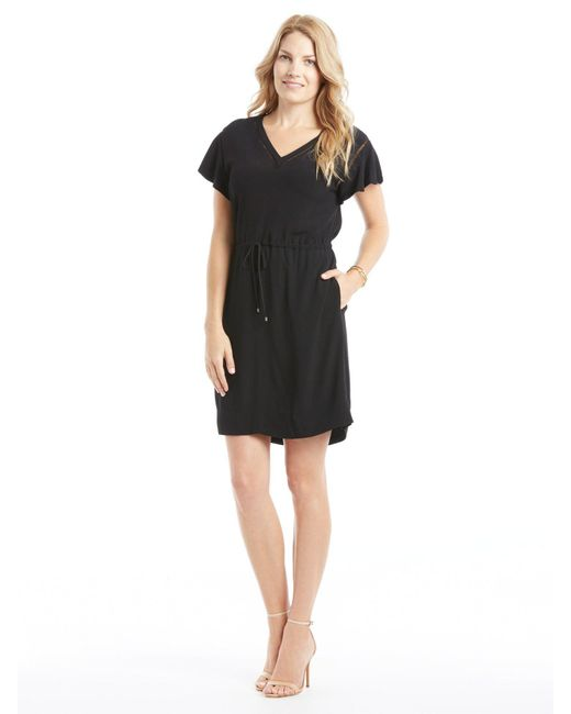 Rebecca Taylor - Black Crepe V-neck Dress - Lyst