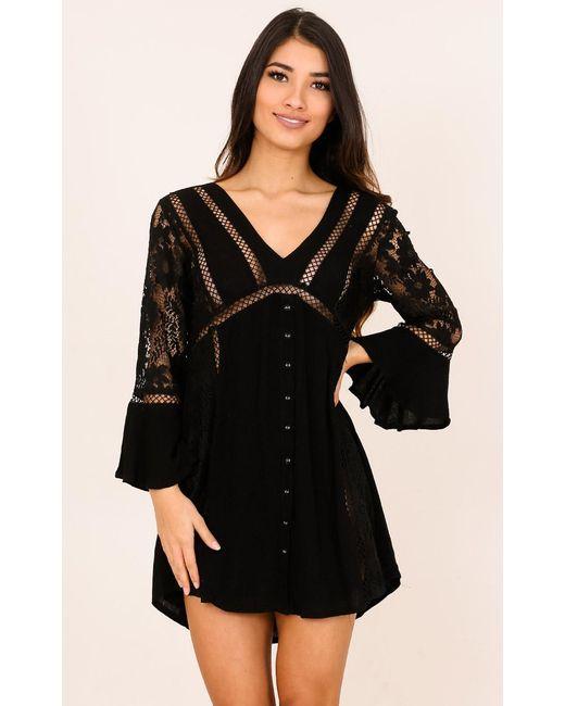 Showpo | Like A Bird Dress In Black | Lyst
