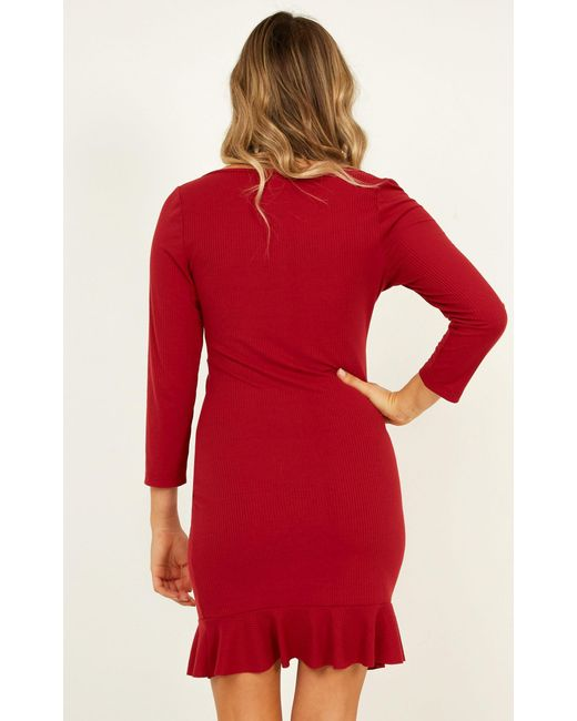 c2c343c4358 ... Showpo - Red Boy Im Just Playing Dress - Lyst ...