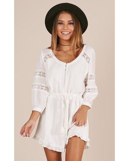 Showpo - White In The Past Dress - Lyst