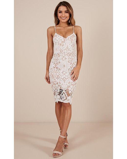 Showpo - Line Of Sight Dress In White - Lyst
