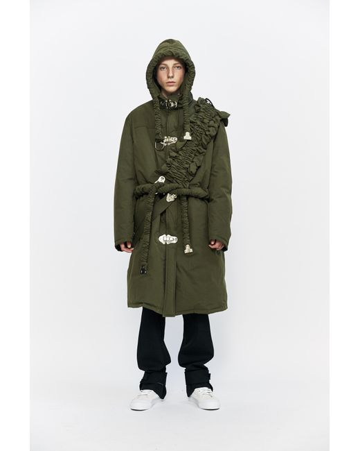 Craig green Down Filled Workwear Long Coat in Green for Men | Lyst