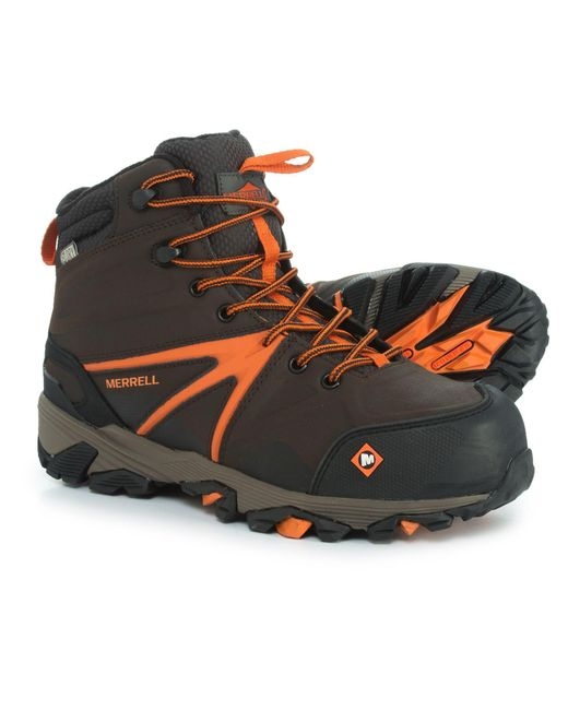 Merrell - Brown Trailwork Mid Work Boots for Men - Lyst