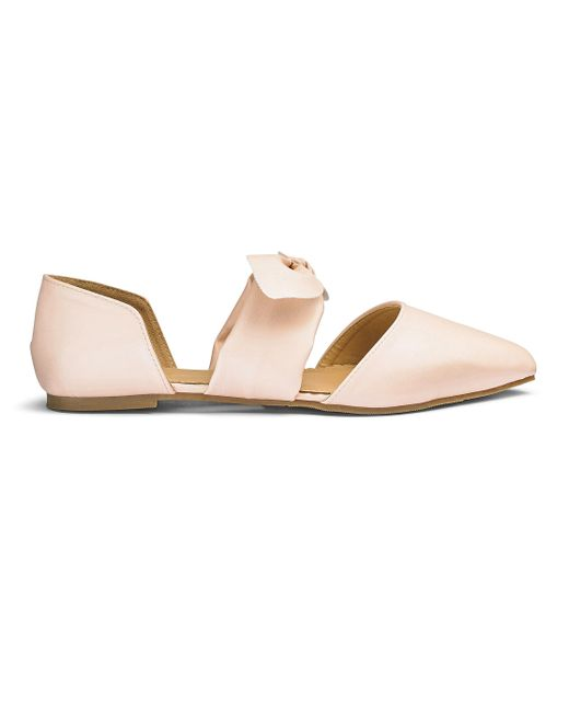 Simply Be - Pink Sole Diva Bow Shoe - Lyst