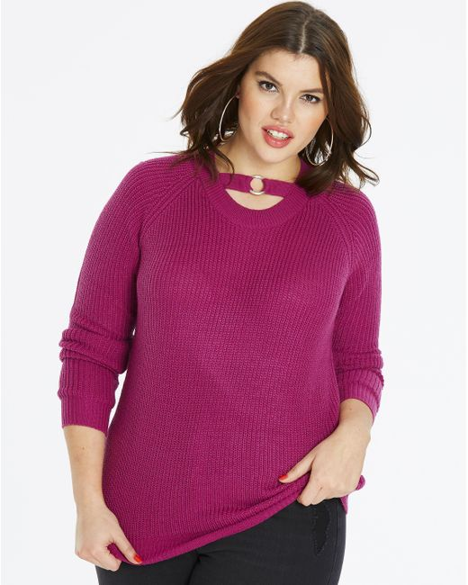 Simply Be - Purple O-ring Jumper - Lyst