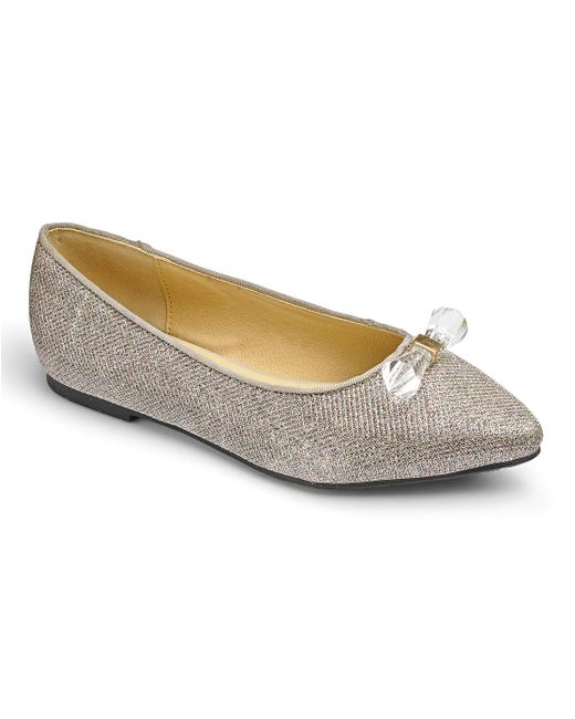 Simply Be - Metallic Heavenly Soles Ballet Flats - Lyst