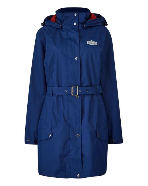 Simply Be - Blue Snowdonia Tie Belt Trench Coat - Lyst