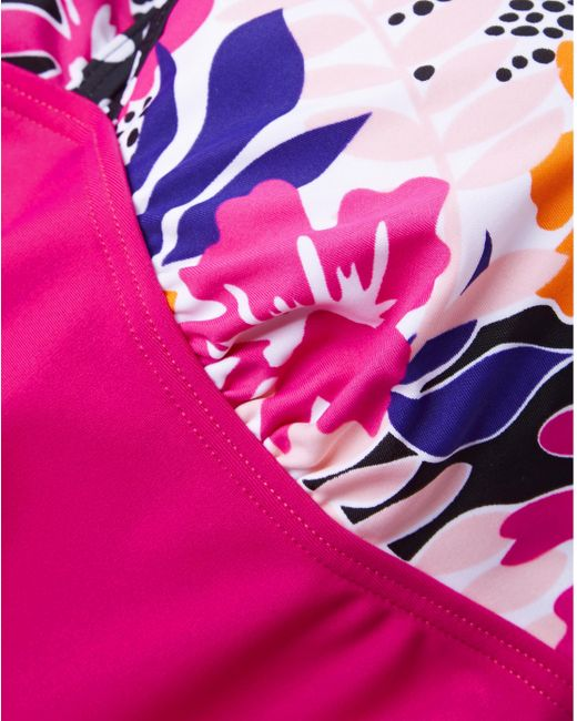 f9ef94b0d1da9 ... Simply Be - Pink Simply Yours Halterneck Swimdress - Lyst ...