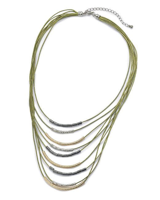 Simply Be - Metallic Cord And Metal Row Necklace - Lyst