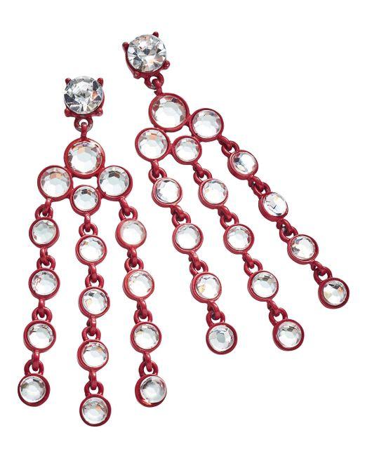 Simply Be - Red Rhinestone Earrings - Lyst