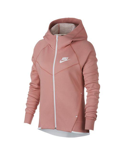 5c881b2ea0298 Lyst - Nike Nsw Tech Fleece Full-zip Hoodie in Red