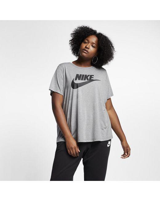 cheaper 83da1 b28f1 Nike - Black Essential T-shirt Plus Size - Lyst