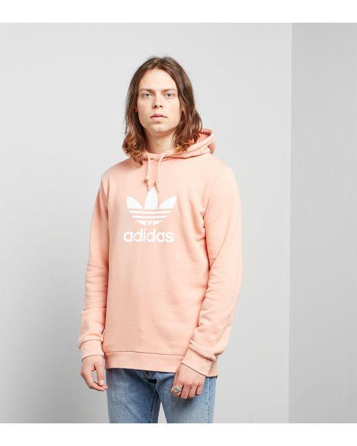 e97f0d663915 Adidas Originals - Pink Trefoil State Overhead Hoodie for Men - Lyst ...