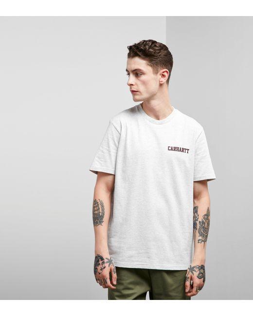 Carhartt WIP   Gray Script Short Sleeve T-shirt for Men   Lyst