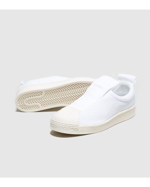 Adidas Originals | White Superstar Bw35 Slip-on Women's | Lyst