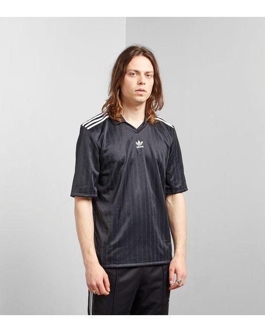Adidas Originals - Black Trefoil Football Jersey for Men - Lyst