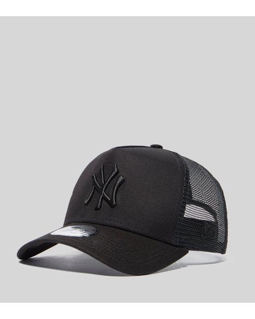 e36a91871a0 KTZ - Black Mlb New York Yankees Snapback Trucker Cap for Men - Lyst ...