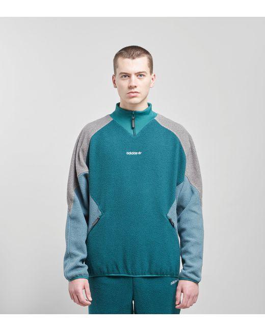 87b48357fdc4 Adidas Originals - Green Eqt Polar Fleece Jacket for Men - Lyst ...