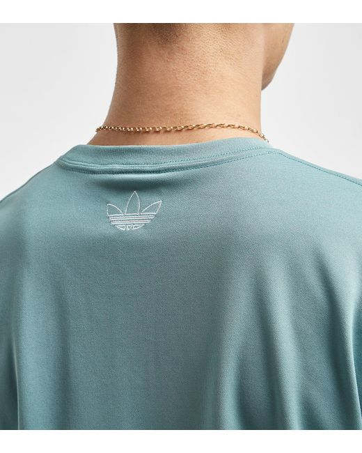 8c96e81b Lyst - Adidas Originals Tnt Tape T-shirt - Size? Exclusive in Gray ...
