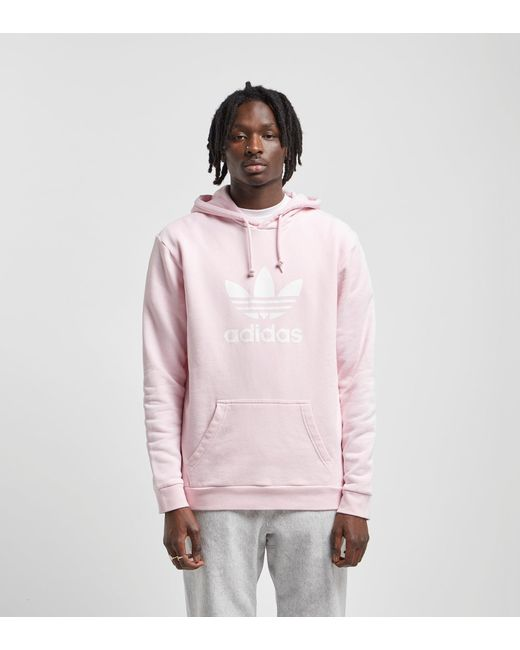 98ae08209479 Adidas Originals - Pink Trefoil Overhead Hoody for Men - Lyst ...
