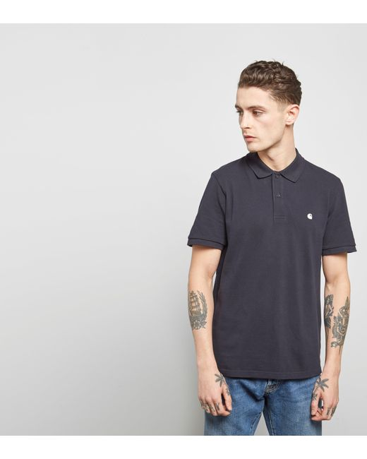 Carhartt WIP | Blue Polo Shirt for Men | Lyst