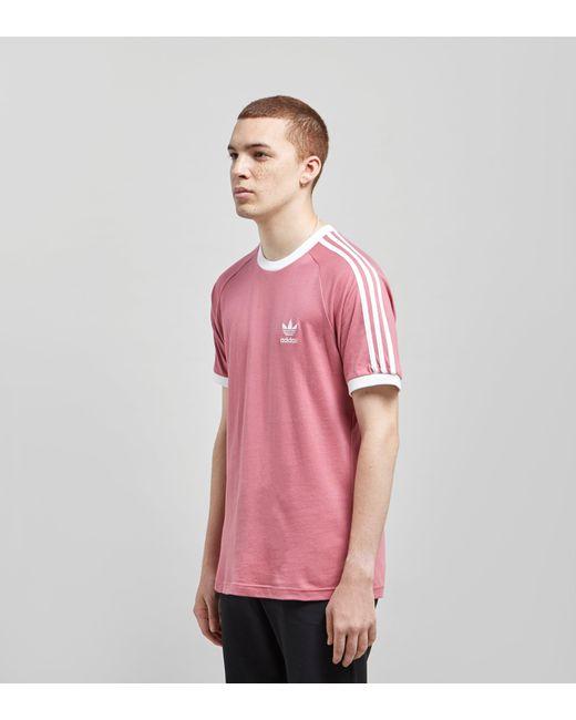 e35544e3c02 ... Adidas Originals - Pink California Short Sleeve T-shirt for Men - Lyst  ...
