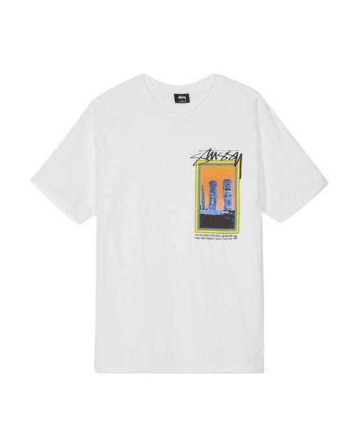 45ef16e07 Stussy - White Tiki T-shirt - Lyst ...