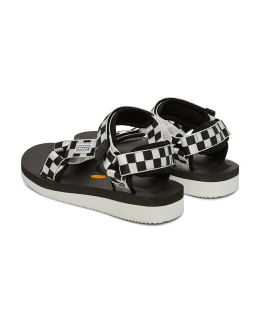 6f2aa828bdbc ... Suicoke - Black Depa V-2 Checkerboard Sandals for Men - Lyst ...