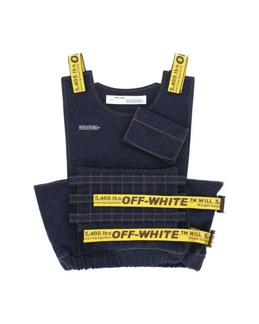 Off-White c/o Virgil Abloh - Blue Denim Tactical Vest for Men - Lyst