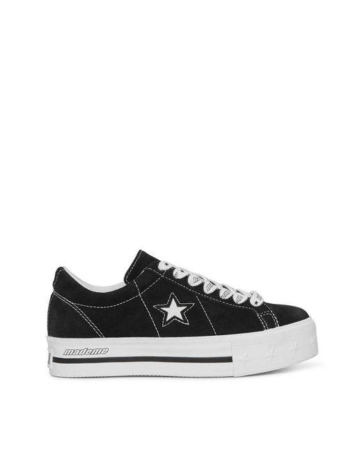 5ef460da97974 Converse X Mademe One Star Platform Sneakers Black in Black - Lyst