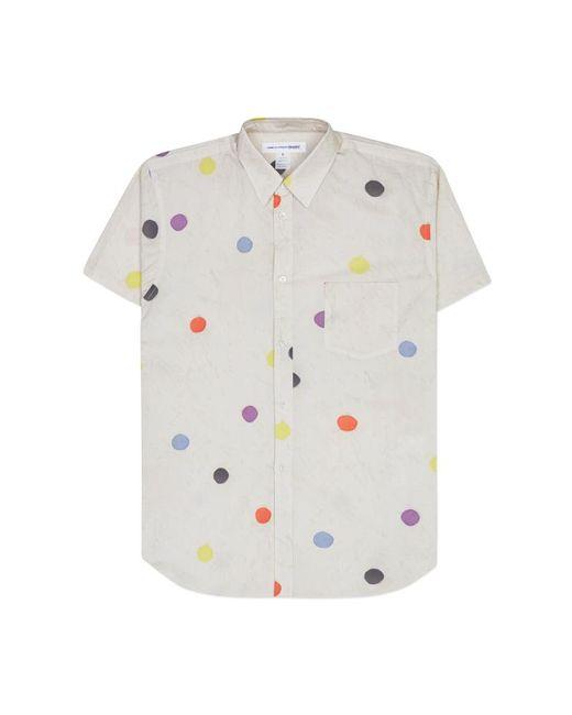 Comme des Garçons - Multicolor Cotton Poplin Printed Short Sleeve Shirt for Men - Lyst