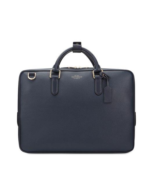 Smythson - Blue Burlington Slim Briefcase for Men - Lyst