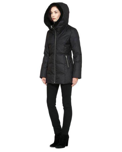 Soia &amp kyo Pearlie Car Coat Length Brushed Down Coat In Black in