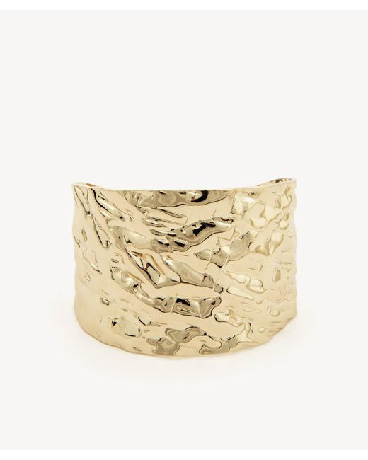 Sole Society - Metallic Textured Metal Cuff - Lyst