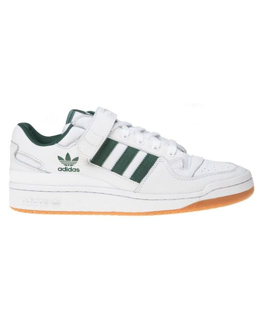 5692988fce49 ... Adidas - White Forum Low Top Trainers for Men - Lyst ...