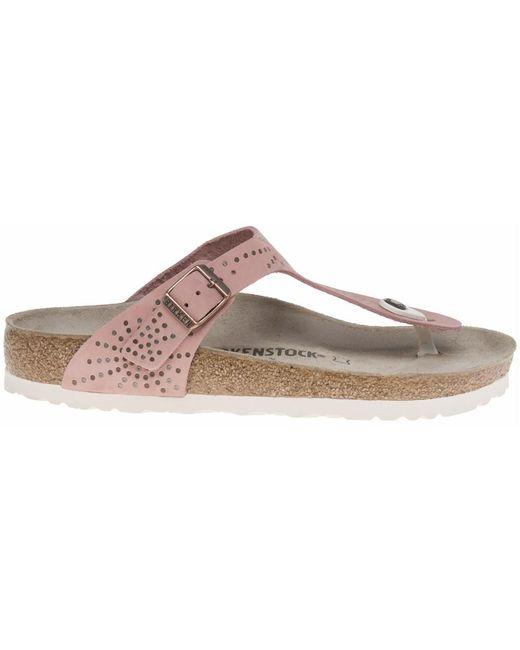 74e86b0825d ... Birkenstock - Pink Gizeh Sandals - Lyst ...
