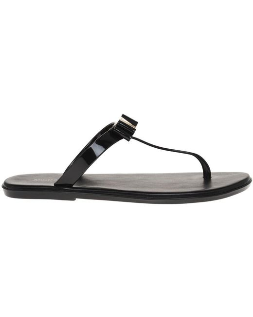 24bffe55d509 ... Michael Kors - Black Jelly Thong Sandals - Lyst ...