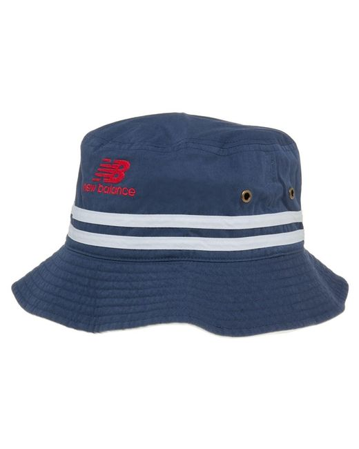 New Balance | Blue Reversible Bucket Hat for Men | Lyst