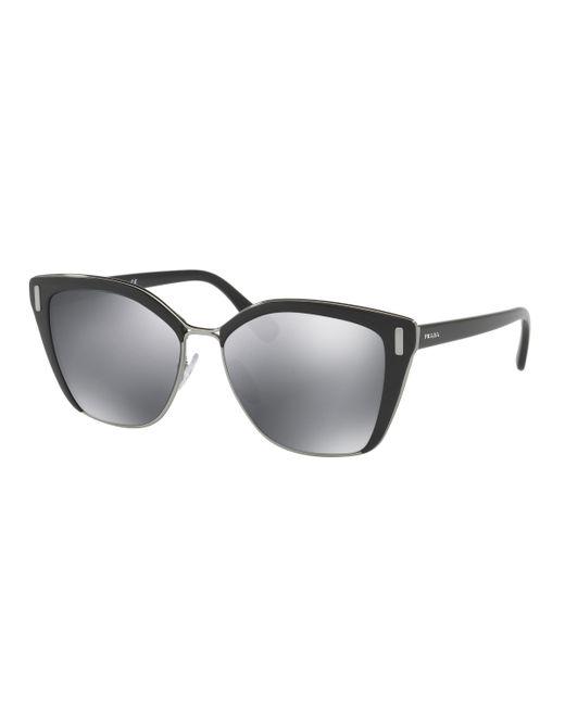 Prada - Metallic 56ts Cat Eye Sunglasses - Lyst
