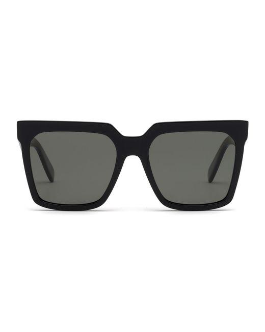 070e940a0f79 Céline Cl40055i 55mm Polarized Square Sunglasses in Black - Lyst