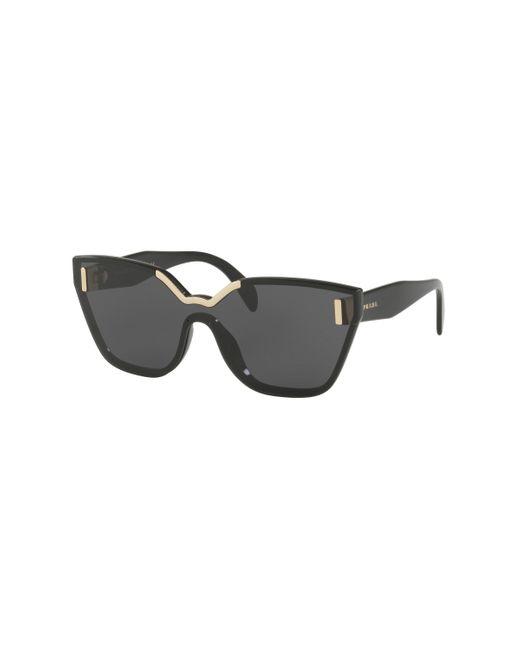 Prada - Black 16ts Shield Sunglasses - Lyst