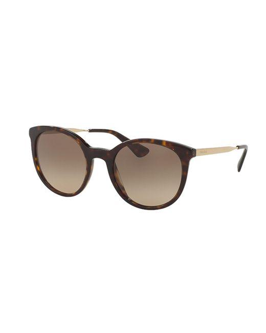 Prada - Brown 17ss Round Sunglasses - Lyst