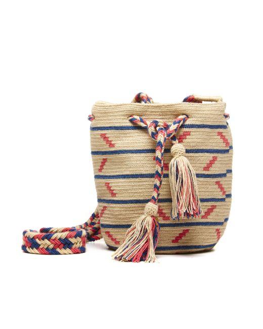 Soludos | Blue Guanabana Pink Navy Medium Bucket Bag | Lyst