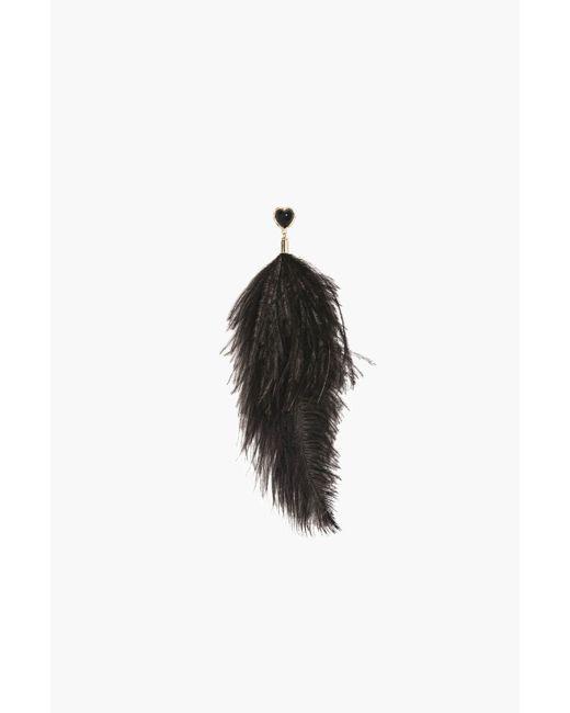 Sonia Rykiel | Black Je De Cœur Feather Pin Brooch | Lyst