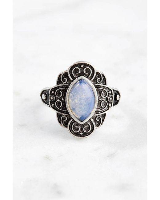 South Moon Under - White Moonstone Marquis Ring - Lyst