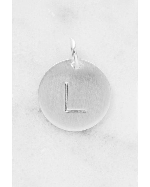Nashelle | Metallic L Initial Disc Necklace Charm | Lyst