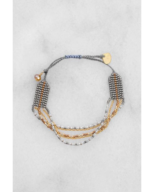 Mishky | Gray Bead And Chain Multistrand Bracelet | Lyst